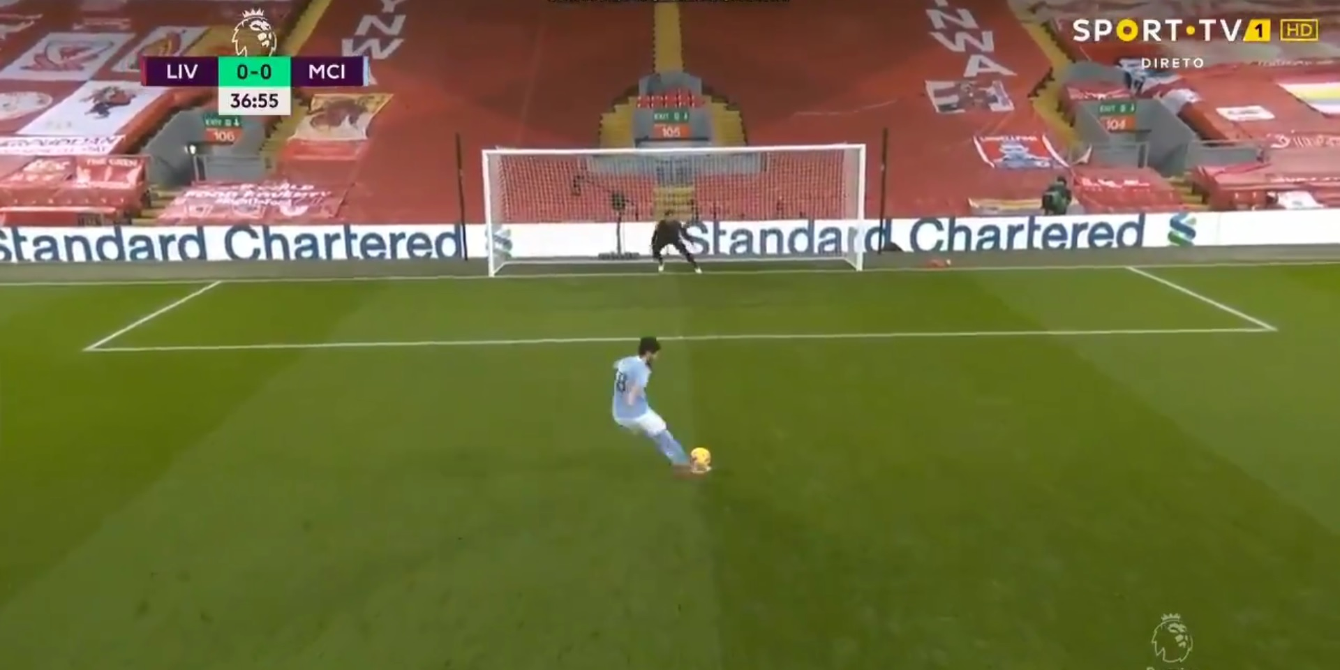 (Video) Gundogan skies penalty at Kop end as City's Anfield hoodoo continues