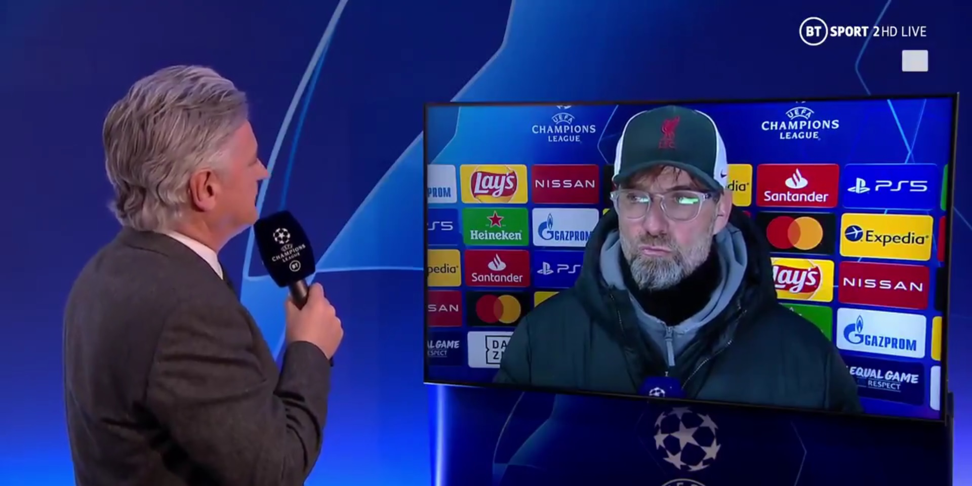 """(Video) Jurgen Klopp rejects reporter's claim Liverpool are """"mentality giants"""" again"""