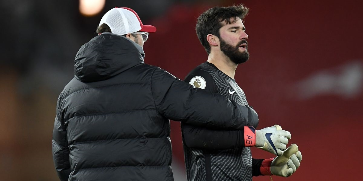 (Video) Alisson makes dressing room admission as Klopp gives Liverpool star advice