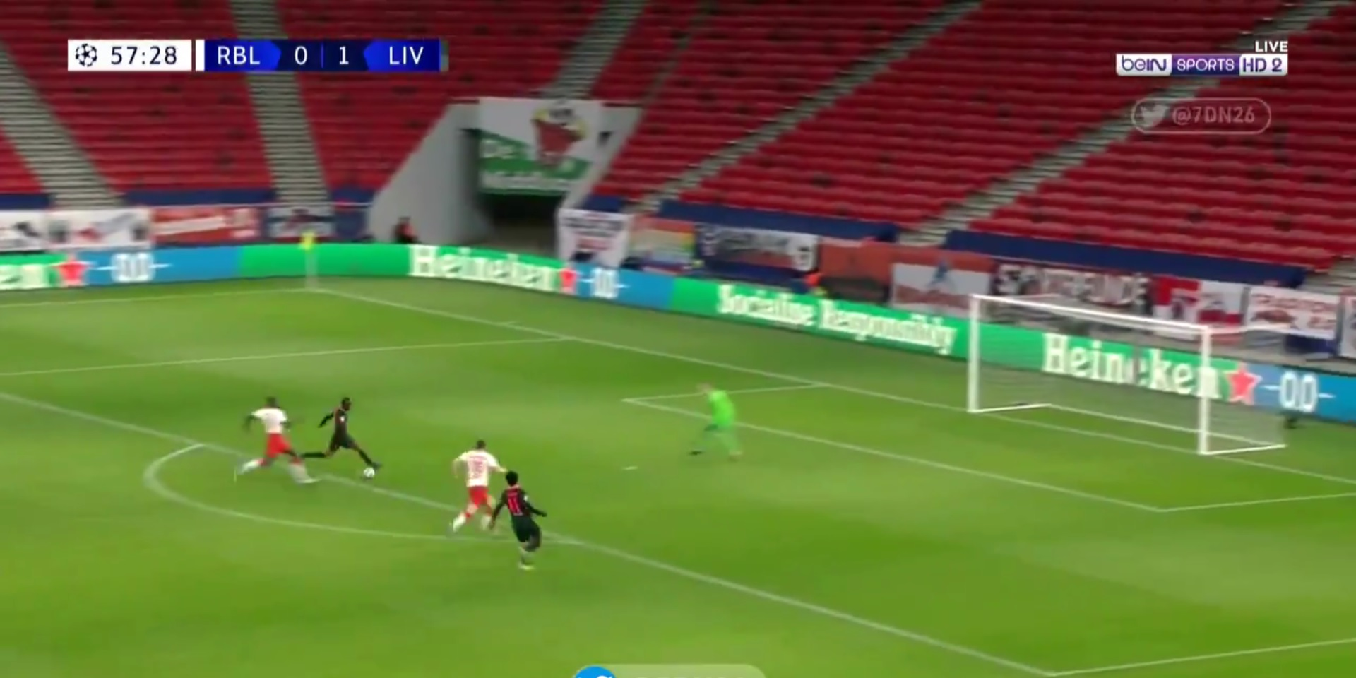 (Video) Mane bags in lightning counter as Liverpool hit Leipzig with quick fire double
