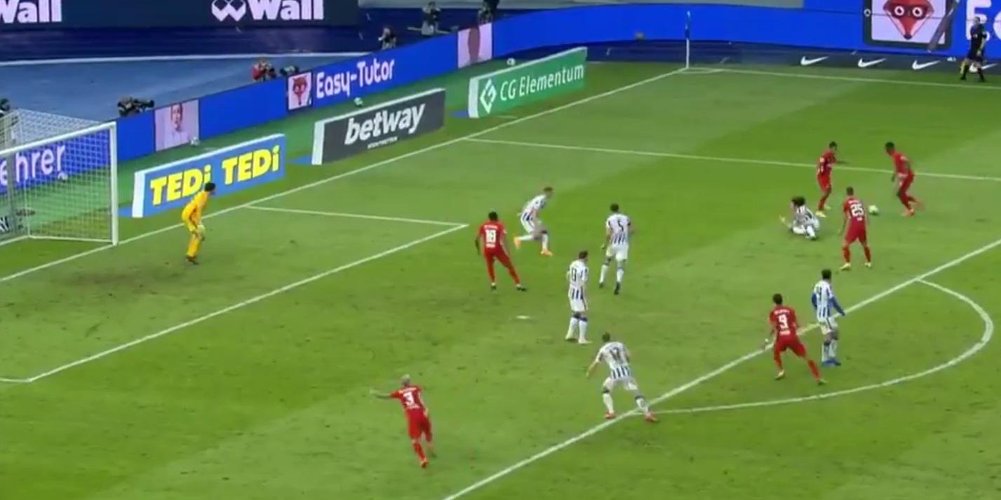 (Video) LFC-linked star capitalises on Guendouzi error to score thunderbolt