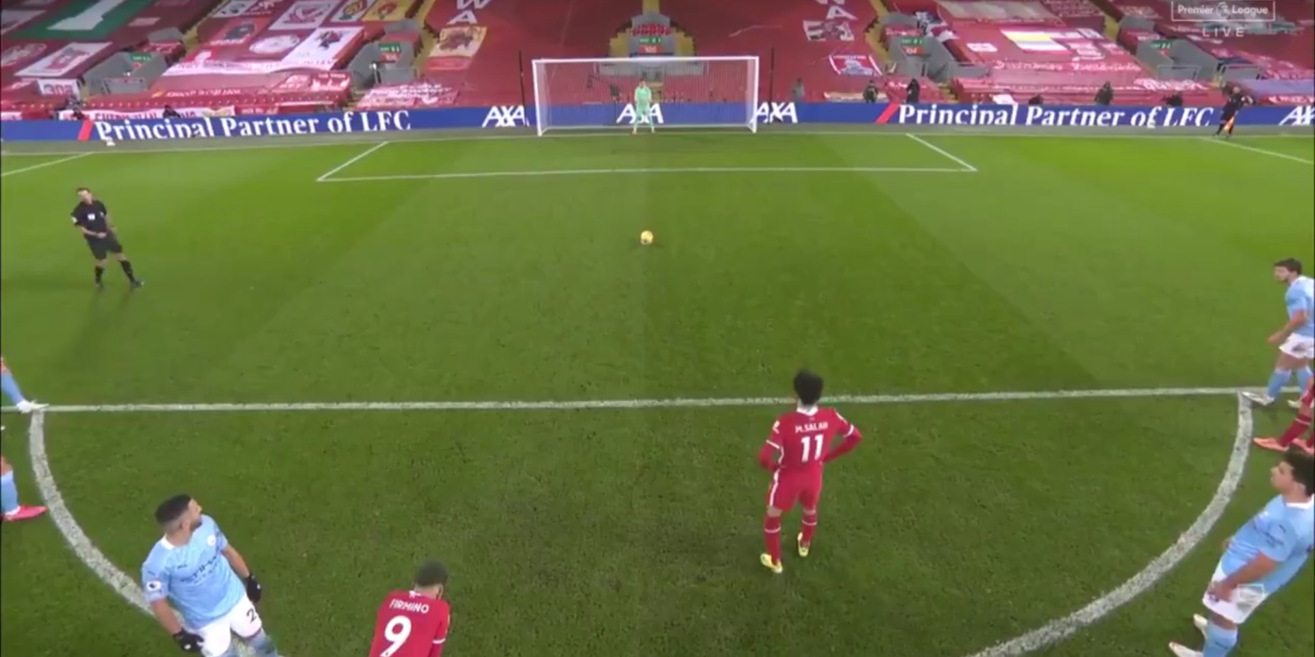 (Video) Mo Salah keeps Liverpool's title hopes alive with expert penalty-kick
