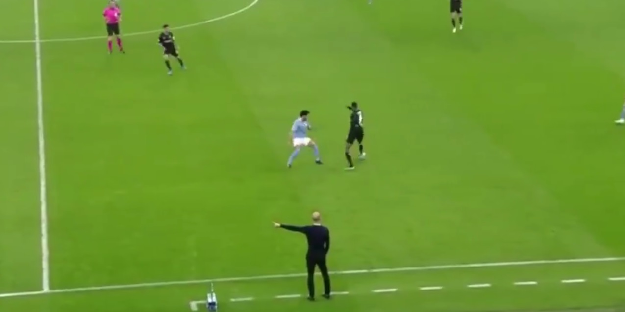 (Video) LFC-targeted midfielder drops lovely move to beat Man City player