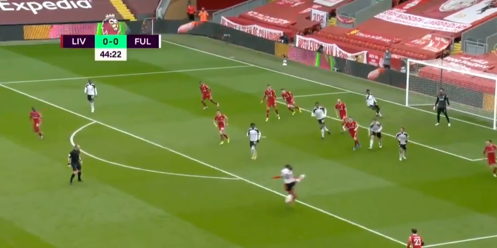 (Video) Fulham take the lead before stroke of half-time after Salah error