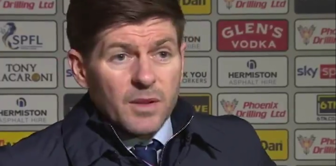 (Video) Funny: Gerrard rejects journo's suggestion Rangers star is getting a bad reputation