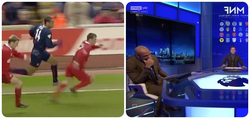 (Video) Hilarious: Carra and Henry in hysterics as MNF shows the infamous Anfield race clip