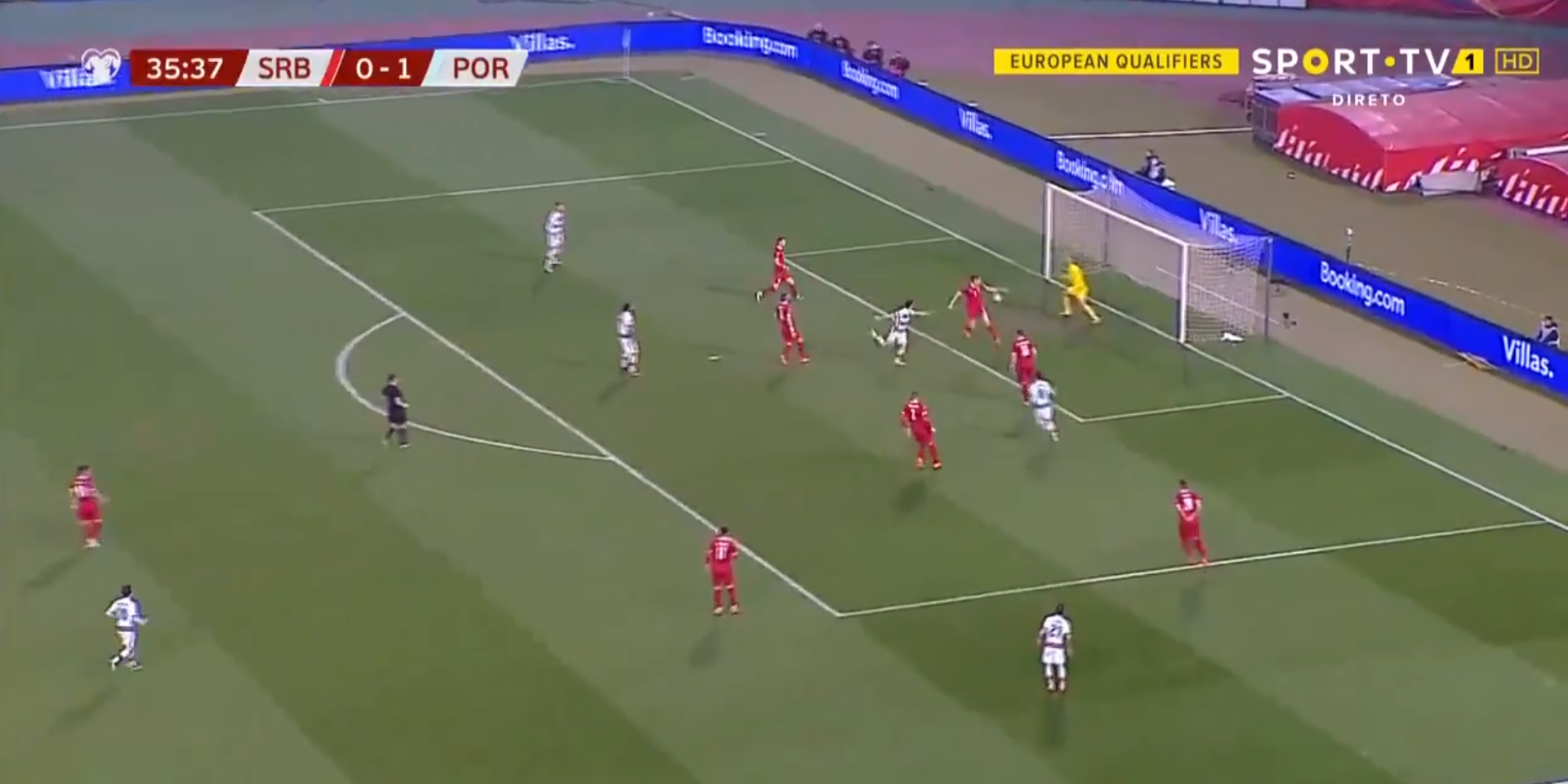 (Video) Diogo Jota nets twice with two brilliant headers in the space of 25 minutes to hand Portugal 2-0 lead