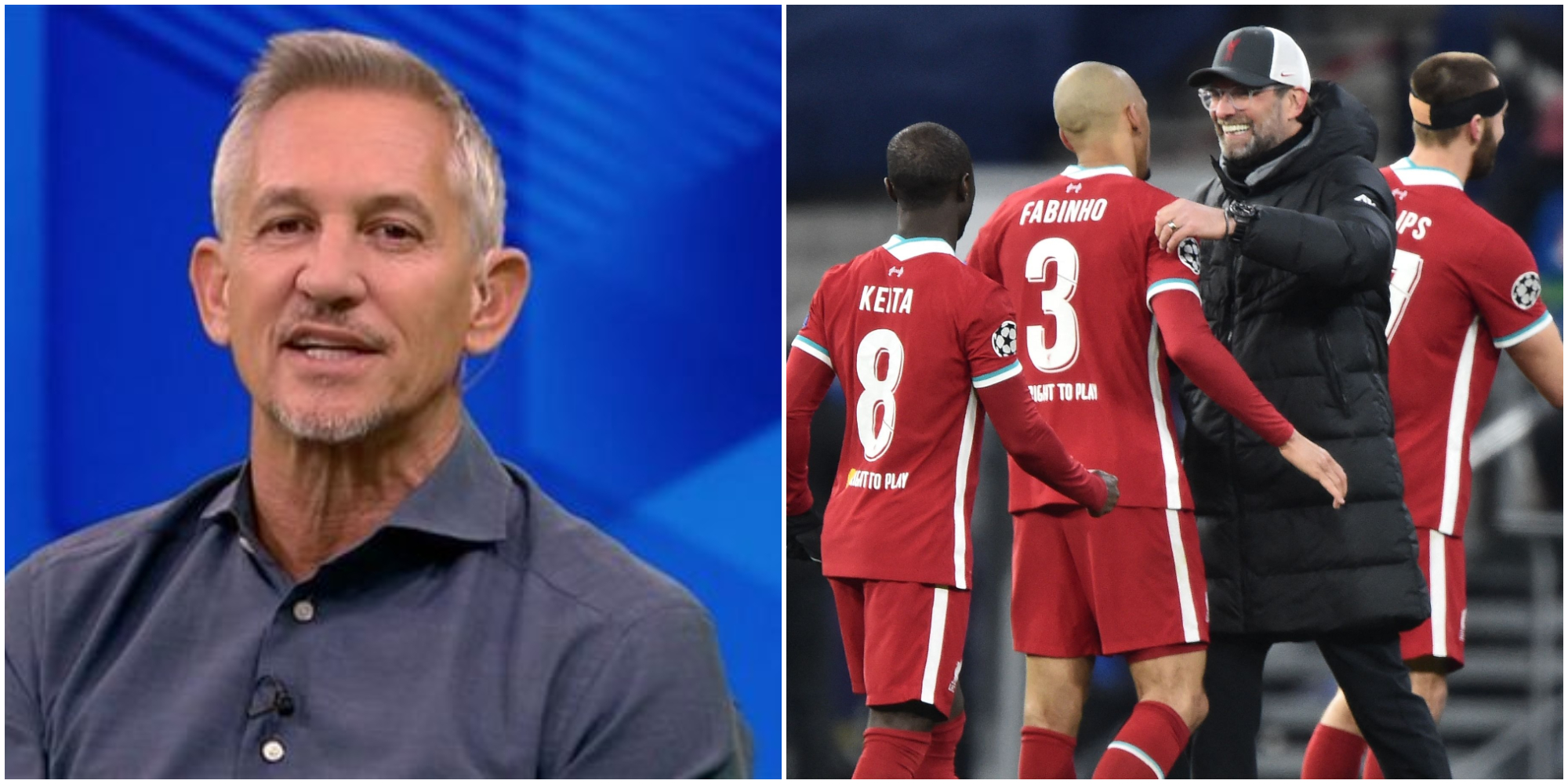 Gary Lineker's three word tweet hits the nail on the head as LFC waltz to the UCL quarter-finals
