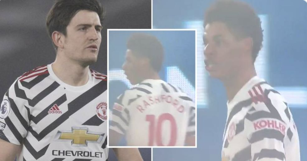 (Video) Rashford's on-pitch description of Maguire as a 'F***ing Kn*bhead' will make all fans laugh!