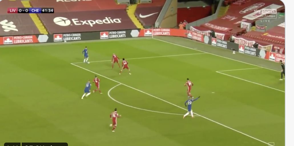(Video) So easy: Chelsea walk ball into net after long ball v Liverpool following horrible first-half