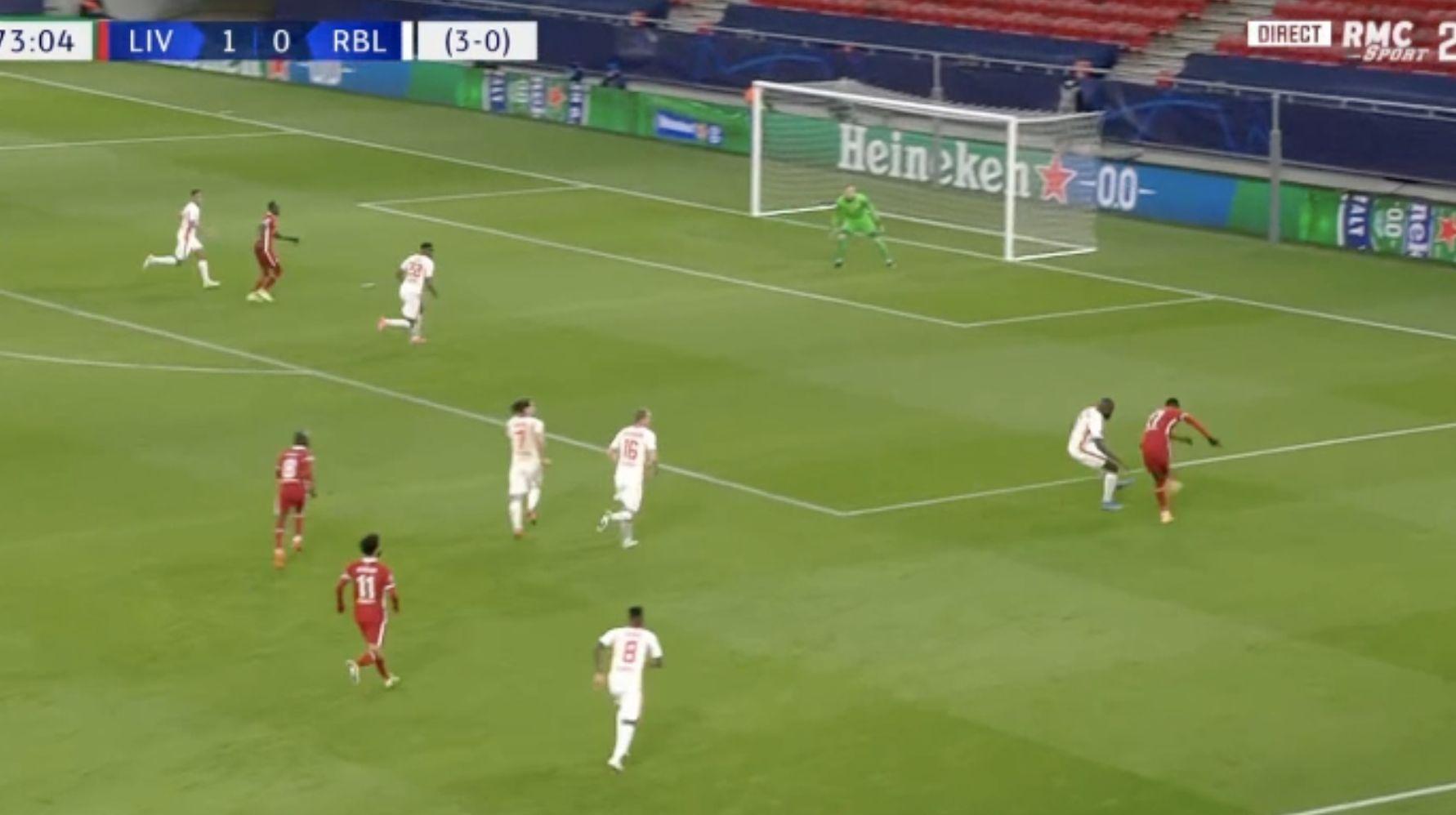 (Video) Powerhouse Origi delivers super assist for Sadio Mane goal v Rb Leipzig
