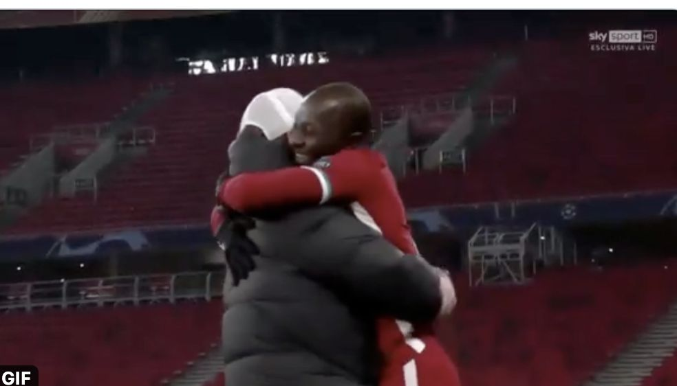 (Video) Klopp's winning hug with Naby Keita the wholesome content we all need right now
