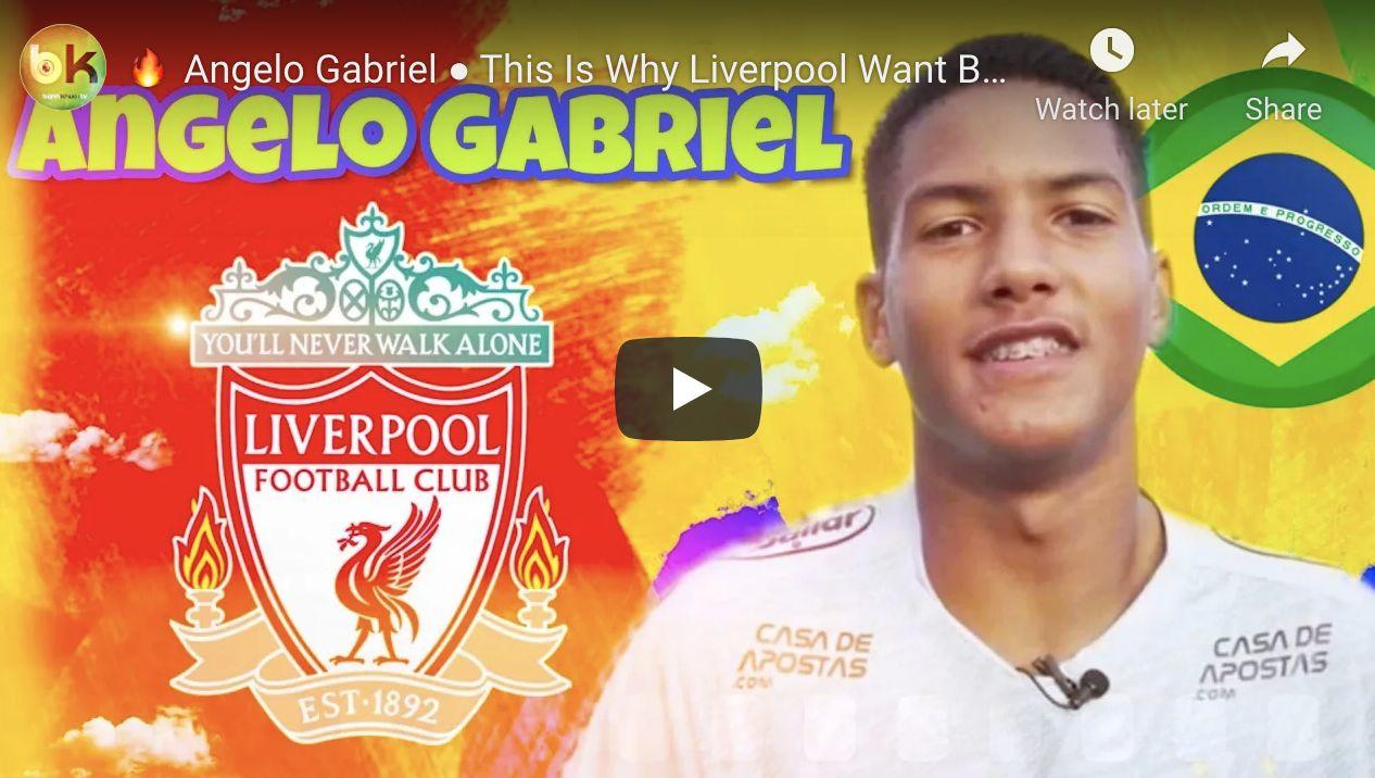 (Video) Angelo Gabriel killing it: LFC's £51m wonderkid target ripping it up for Santos