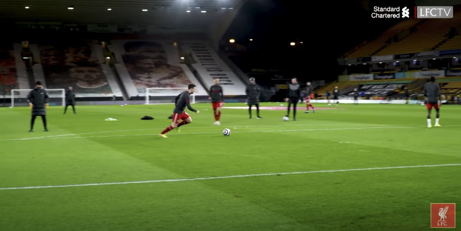 (Video) Diogo Jota meant business in his warmup before Wolves clash