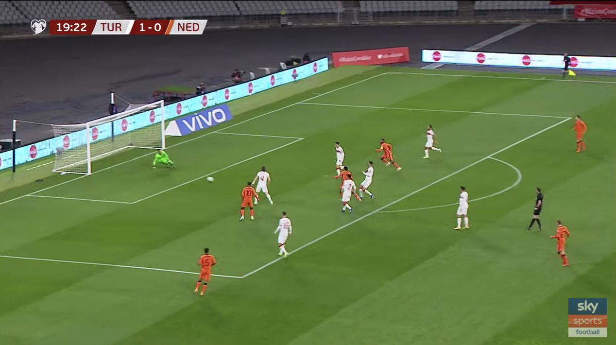 (Video) Wijnaldum v Kabak: Liverpool stars battle in 6-goal Netherlands v Turkey thriller