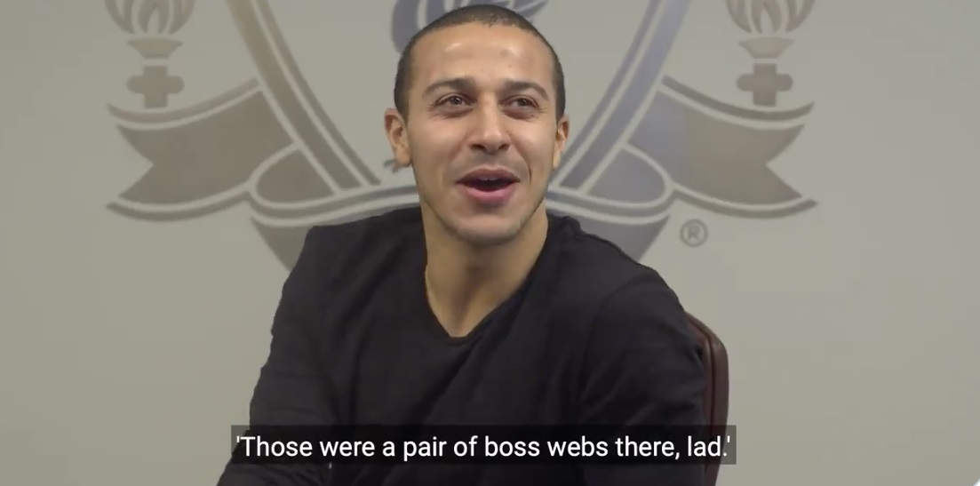 (Video) Thiago talks about his 'Boss webs there, lad' in hilarious Scouse lesson