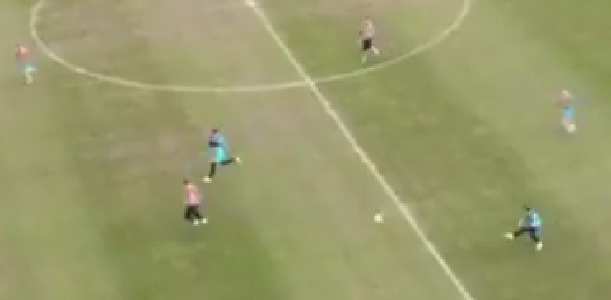(Video) Harvey Elliott lobs goalkeeper from 70 yards in unreal training clip