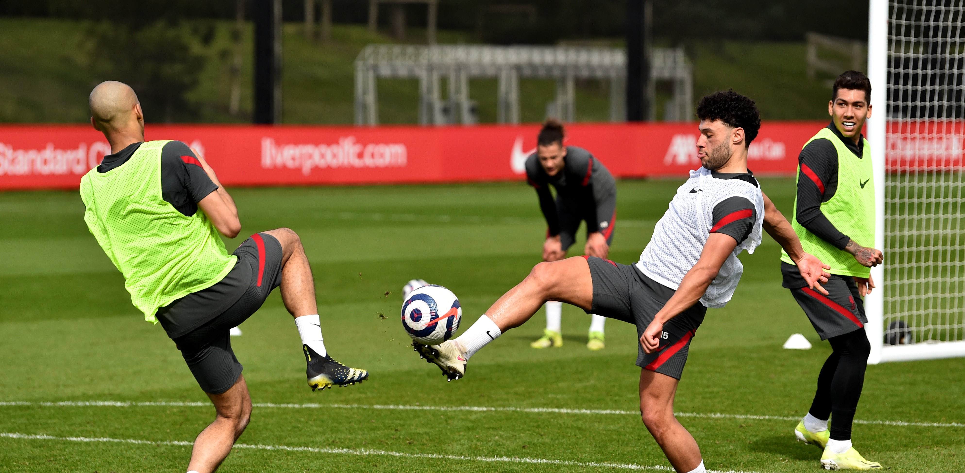 (Photos) Liverpool superstar in contention for Arsenal clash after training comeback