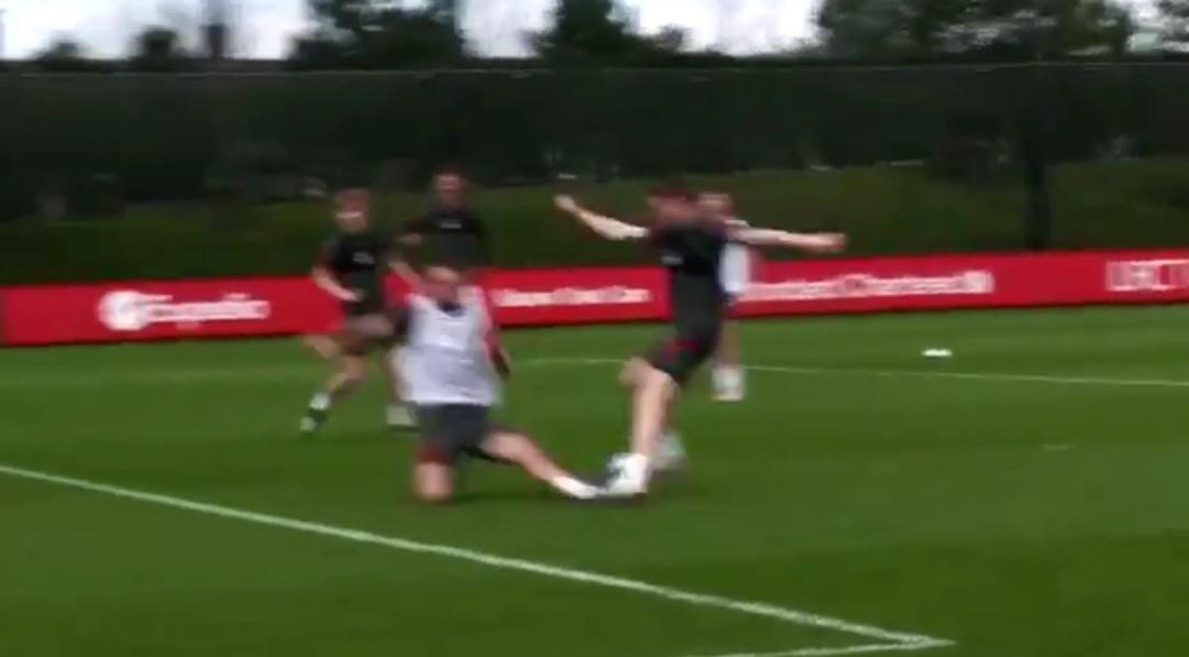 "(Video) Milner drops Liverpool defender in training & cracks joke: ""Sent for the Echo"""