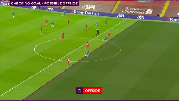 (Image) Liverpool get lucky with dodgy VAR call as Werner goal ruled out
