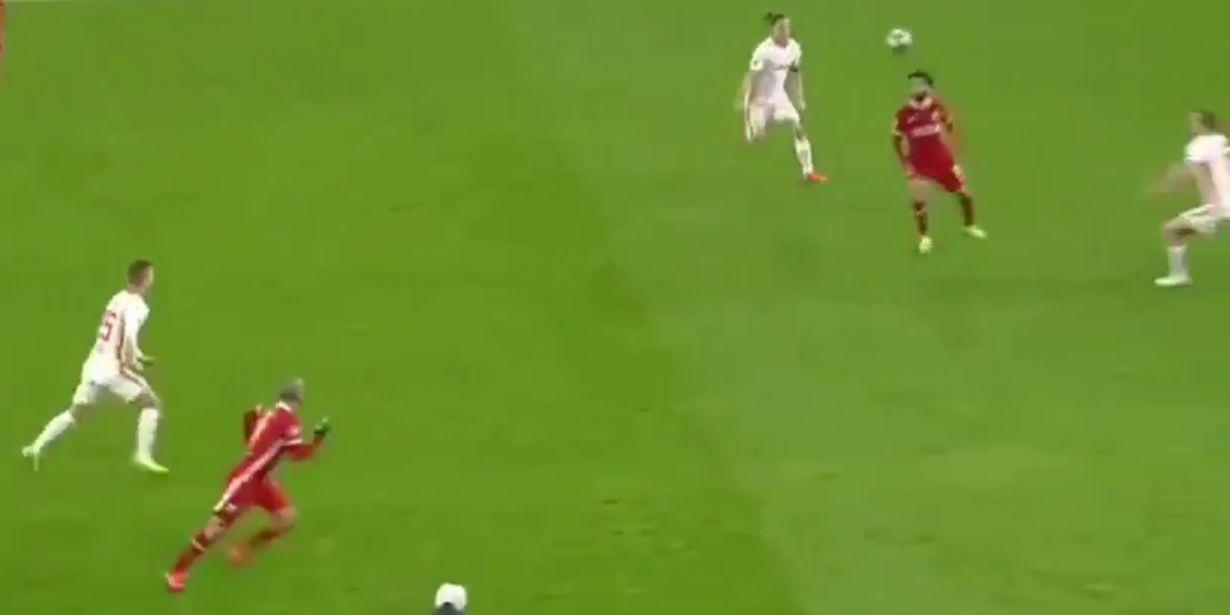 (Video) Jaw dropping Mo Salah reverse pass to Thiago we missed last night