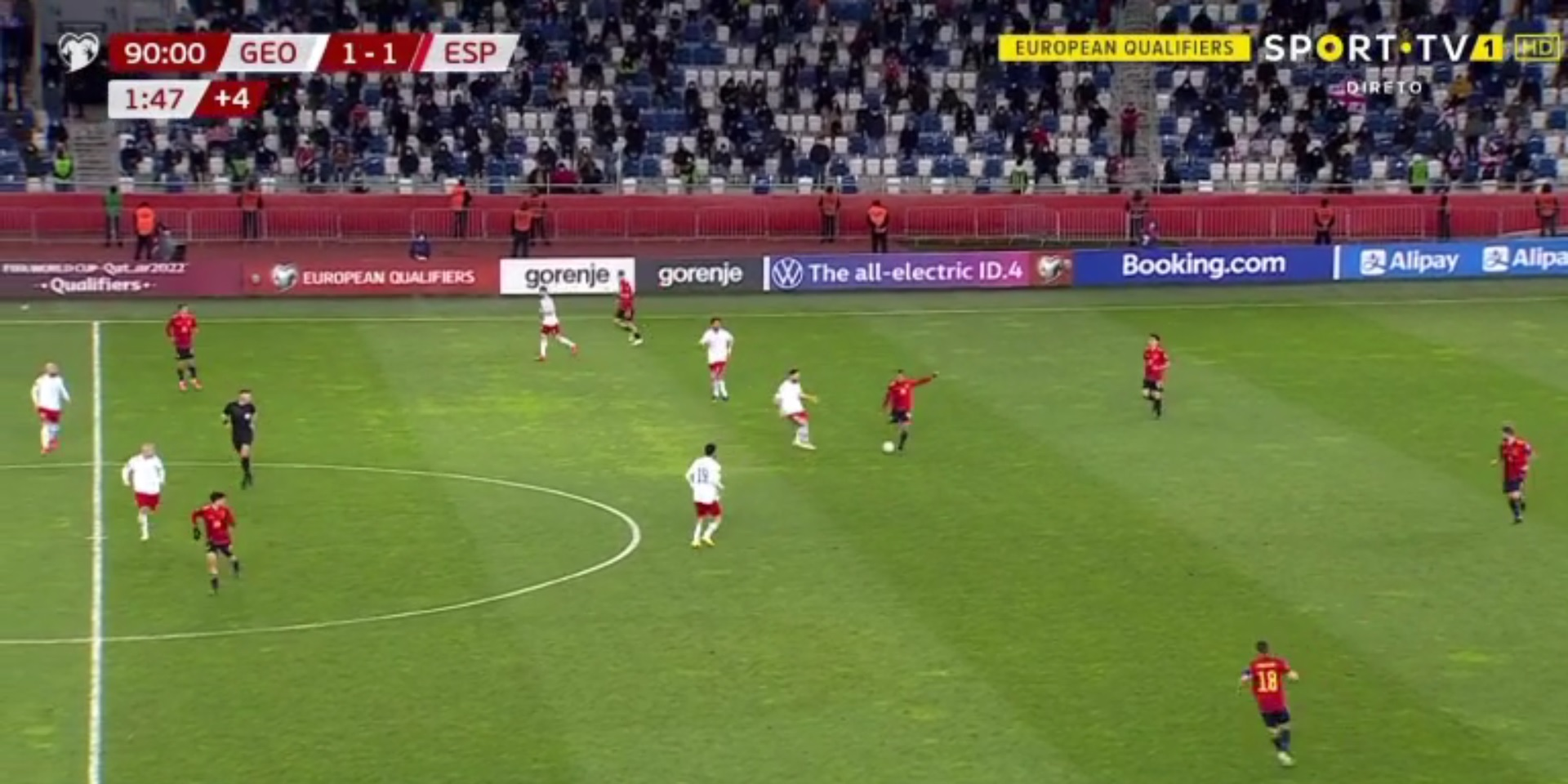 (Video) Thiago's gorgeous flicked pass sets up last-minute Spain winner