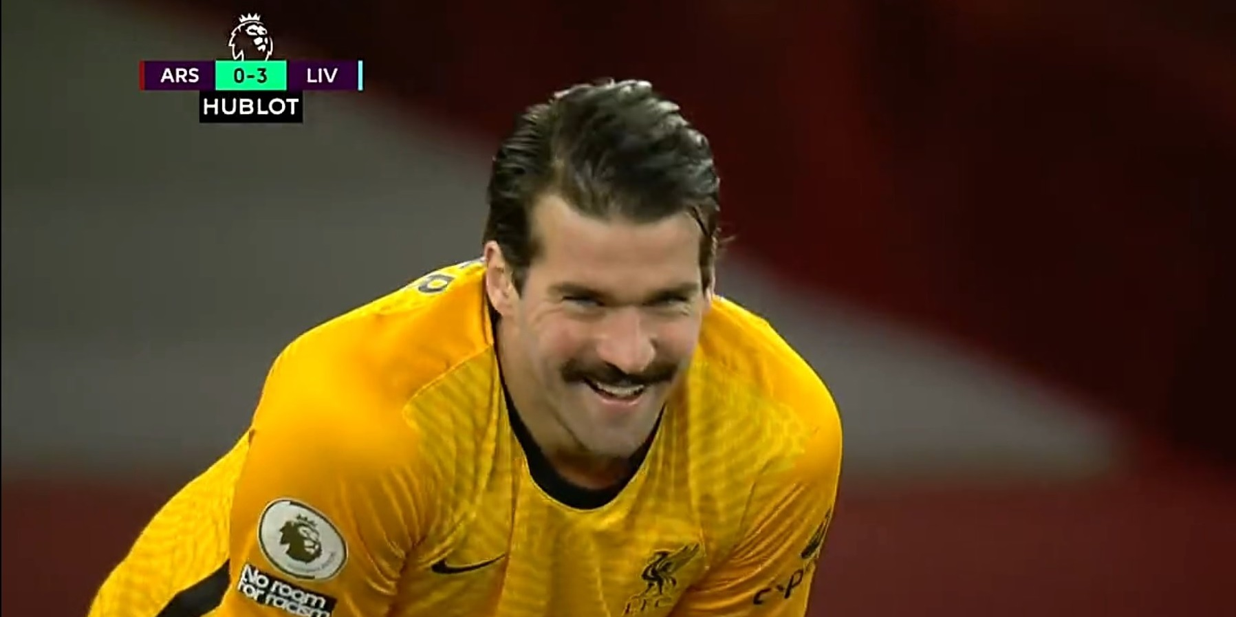Alisson's new look brought up in Arsenal fan's hilarious thread reaction to 3-0 thumping