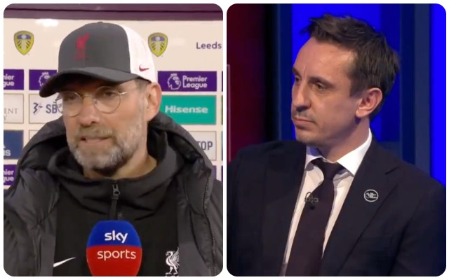 (Video) Klopp and Neville fight it out as LFC Boss calls FSG 'great people'