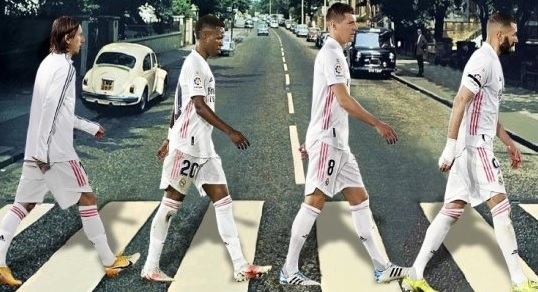 (Image) Marca's front page Abbey Road remake ridiculed ahead of Liverpool v Madrid