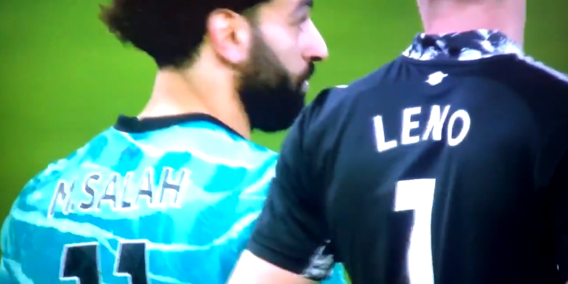(Video) Leno appears to ask for Salah's shirt after Egyptian hits 18 PL goals for the season