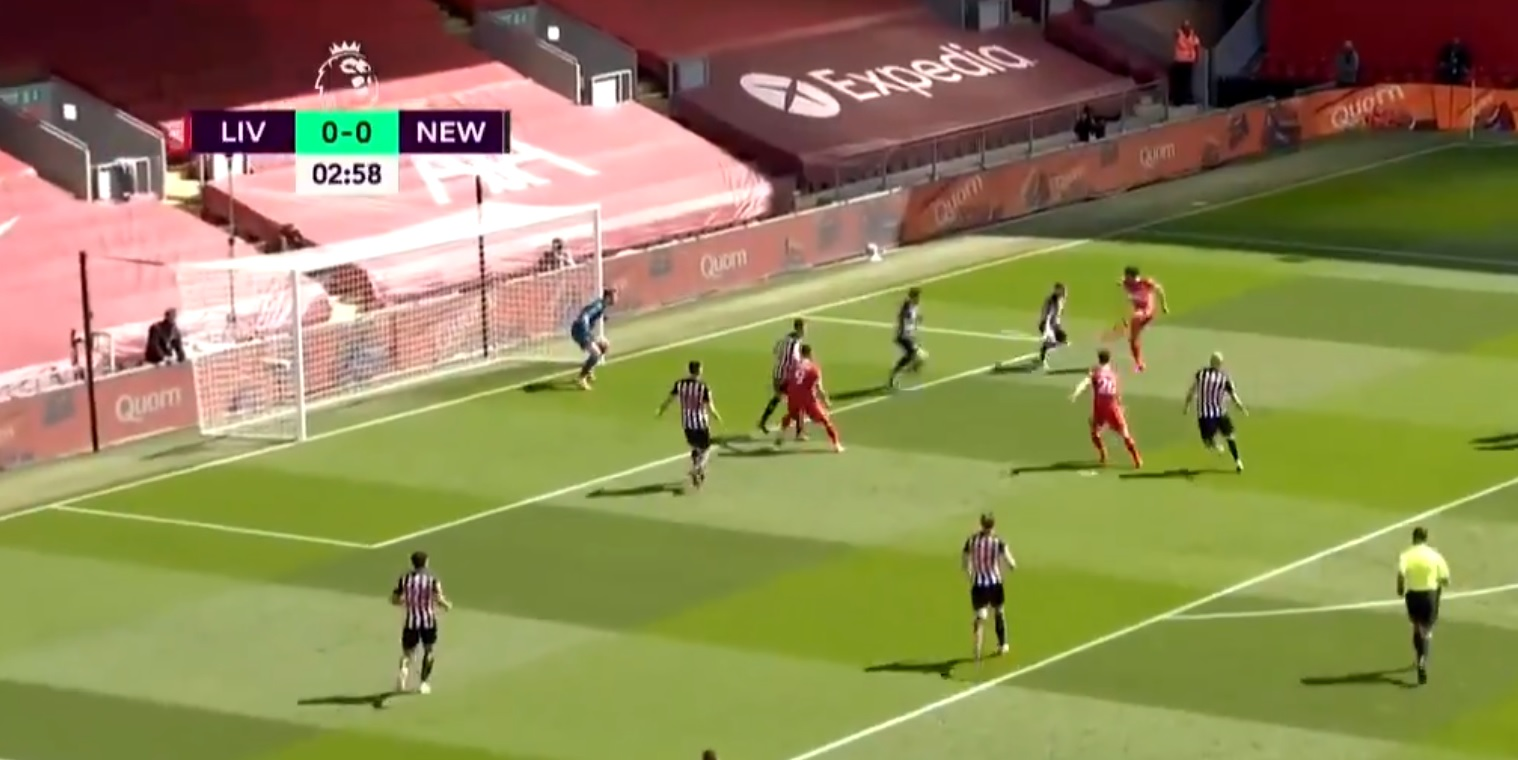 (Video) Salah nets outrageous half-volley after ludicrous touch to leave Newcastle defender catching air