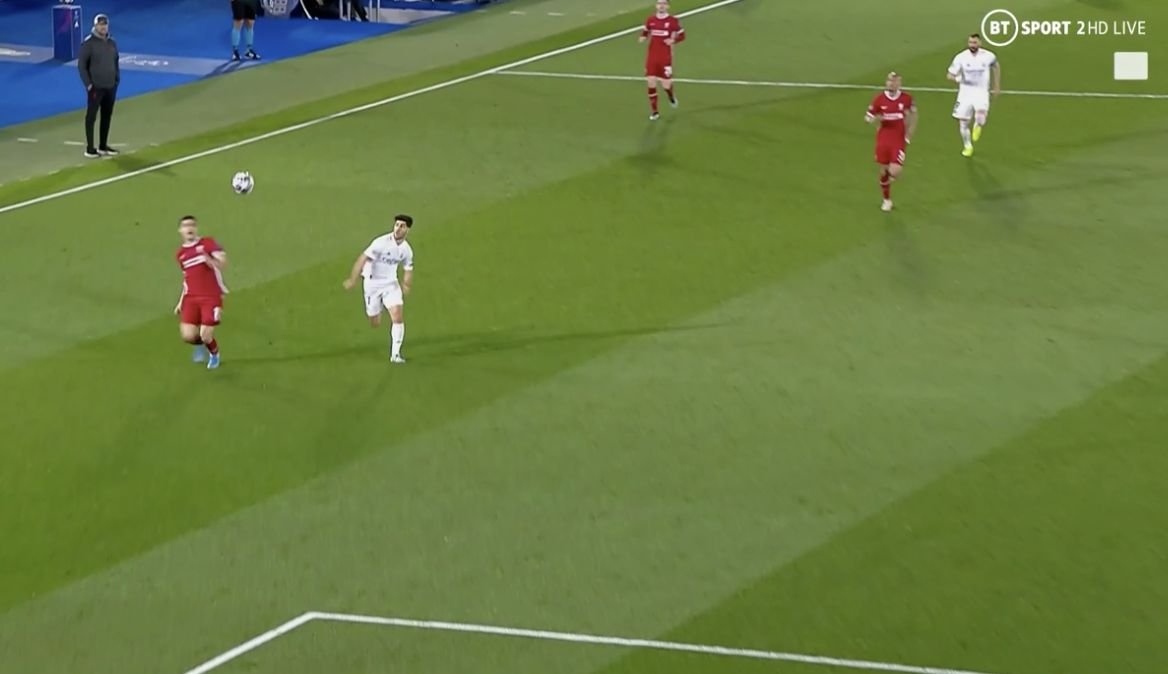 (Video) Klopp is hands on head to Ozan Kabak's first-half error v Real Madrid