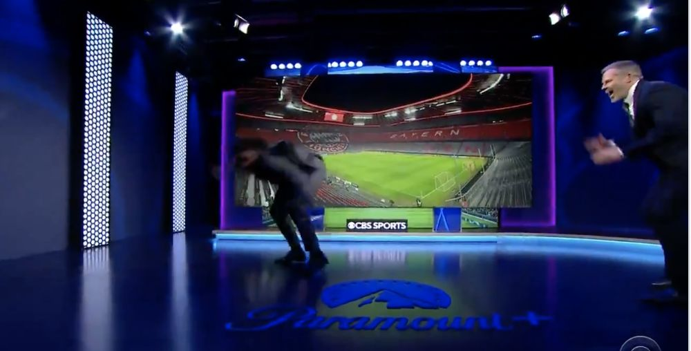 (Video) Carragher and Micah Richards Dance-Off in hilarious CBS Sports scenes