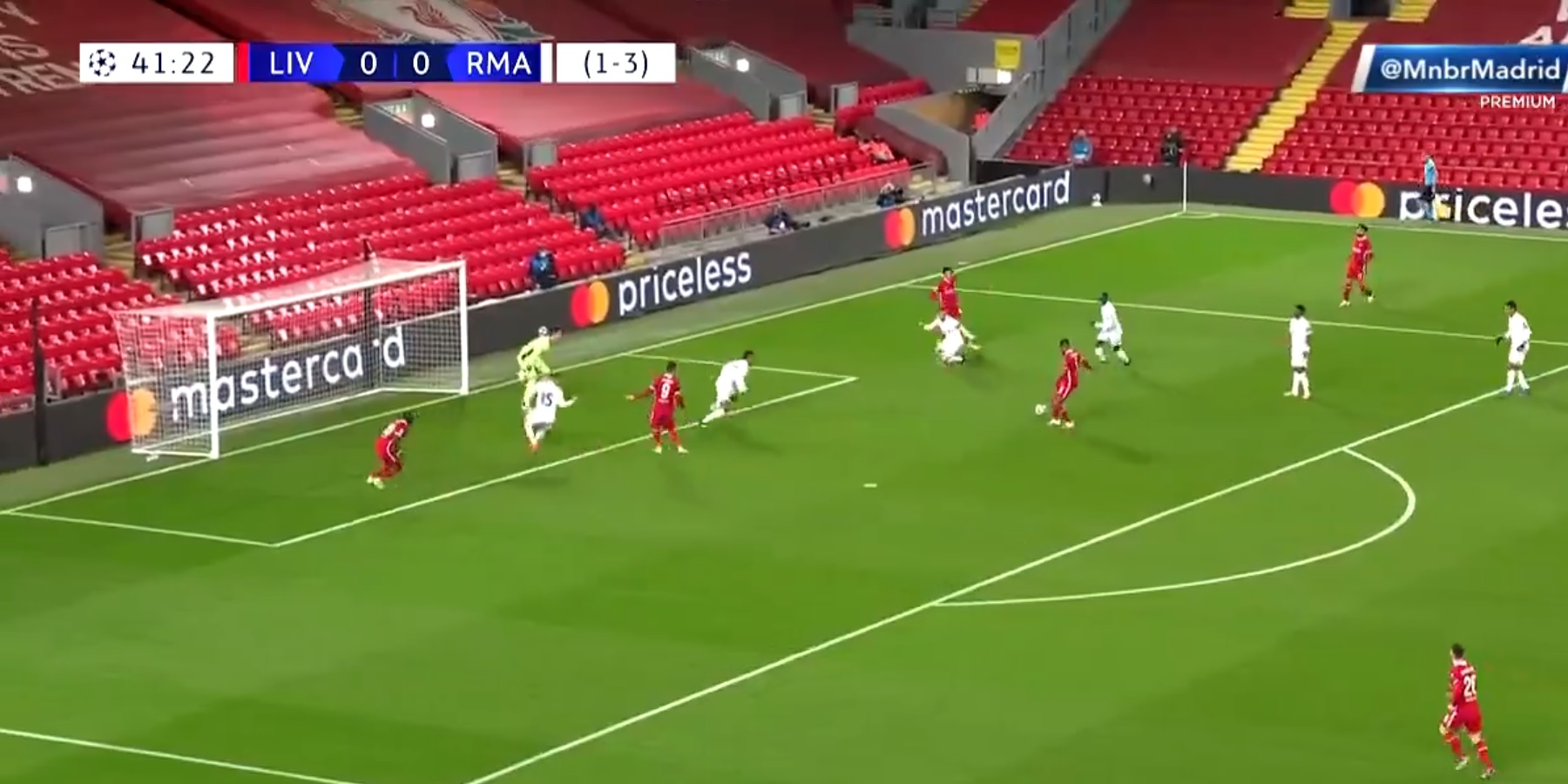 (Video) Thrilling solo run from Trent almost ends in a goal as effort blown over the bar by Wijnaldum