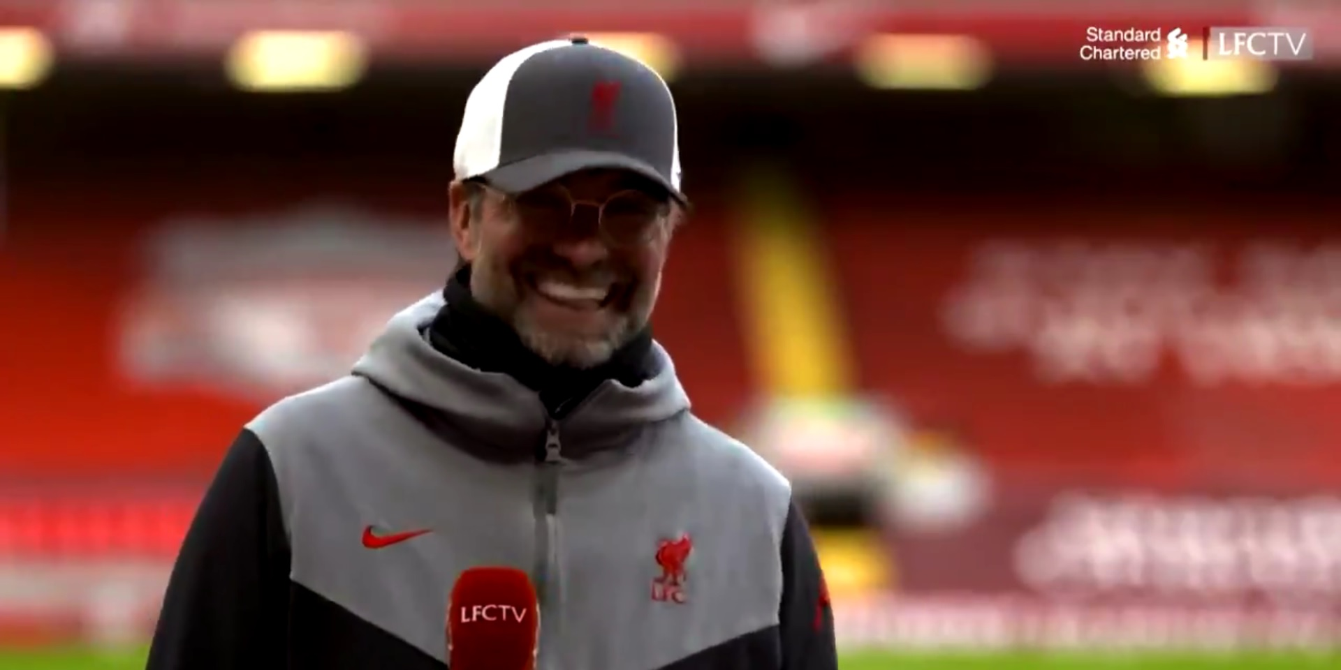 (Video) Klopp bursts into laughter when reminded of LFC's poor home form