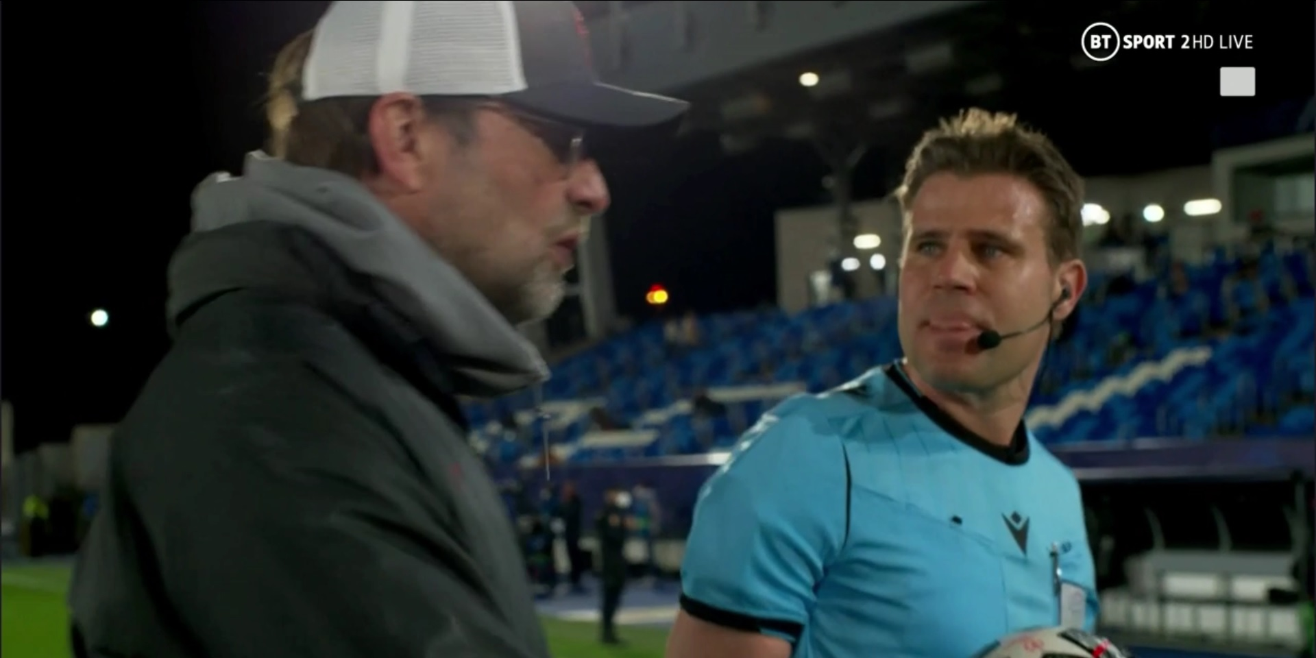 (Video) Frustrated Jurgen Klopp argues with ref after Liverpool defeat v. Real Madrid