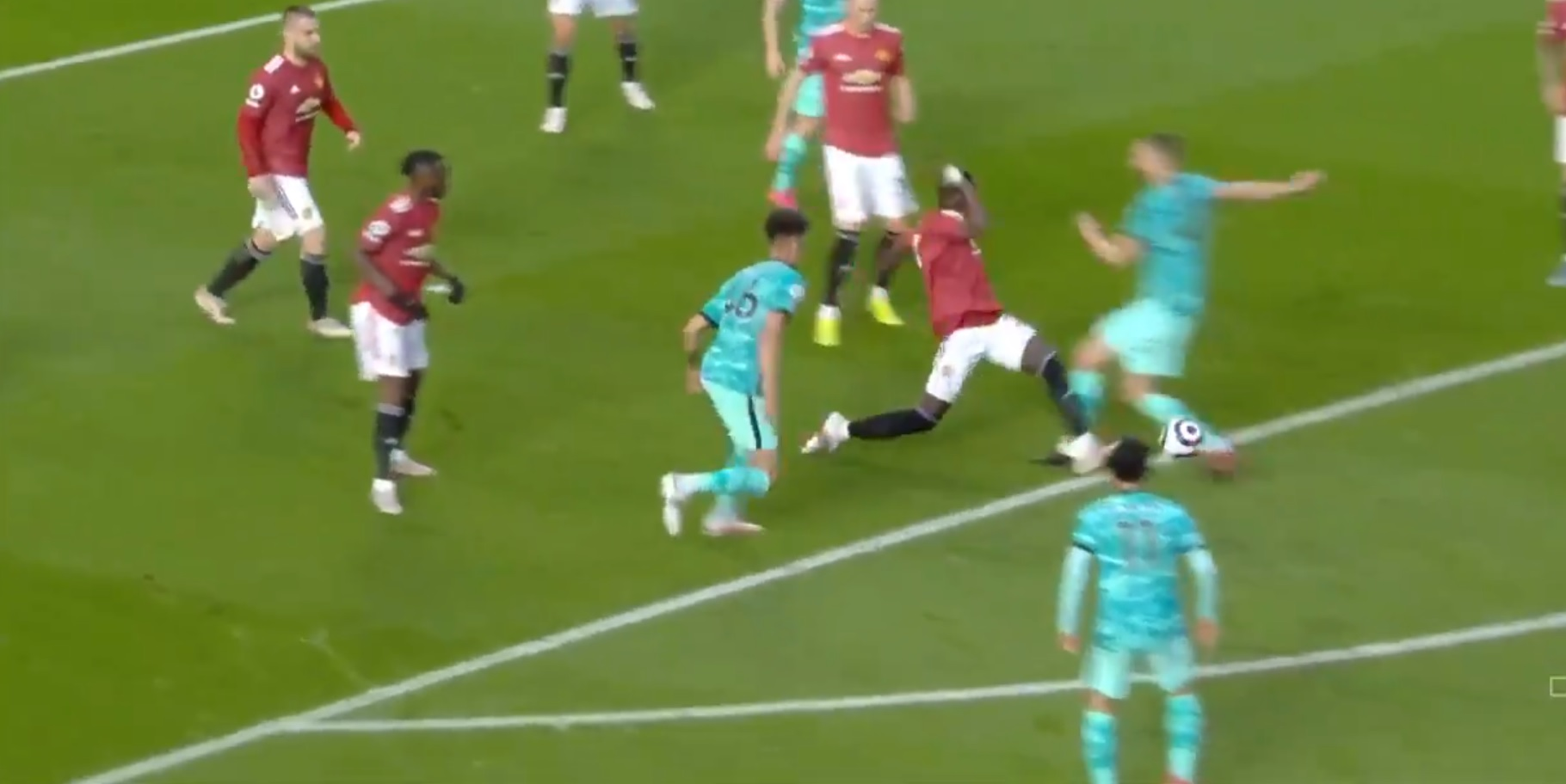 (Video) VAR nearly messes up another game for Liverpool after contentious Bailly penalty call