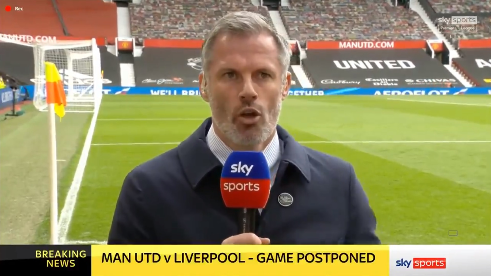 Jamie Carragher compares Manchester United protest to a 'night out with mates'