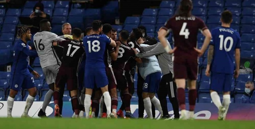 Liverpool's top four hopes could be handed a huge boost due to Chelsea v Leicester player scuffle
