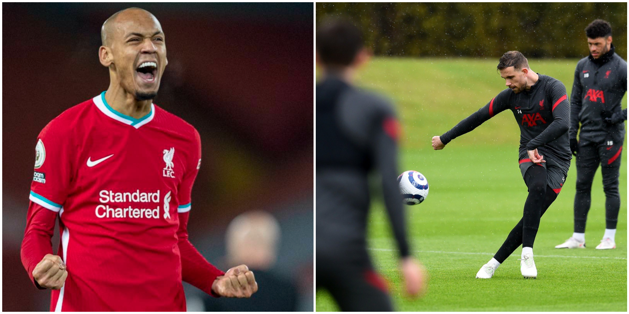 A Liverpool fan illustrates how important Fabinho and Jordan Henderson are to the club with an eye-opening graph