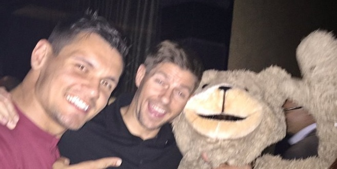 (Photo) Lovren wishes Gerrard a happy birthday with a tweeted picture that is both bizarre and brilliant