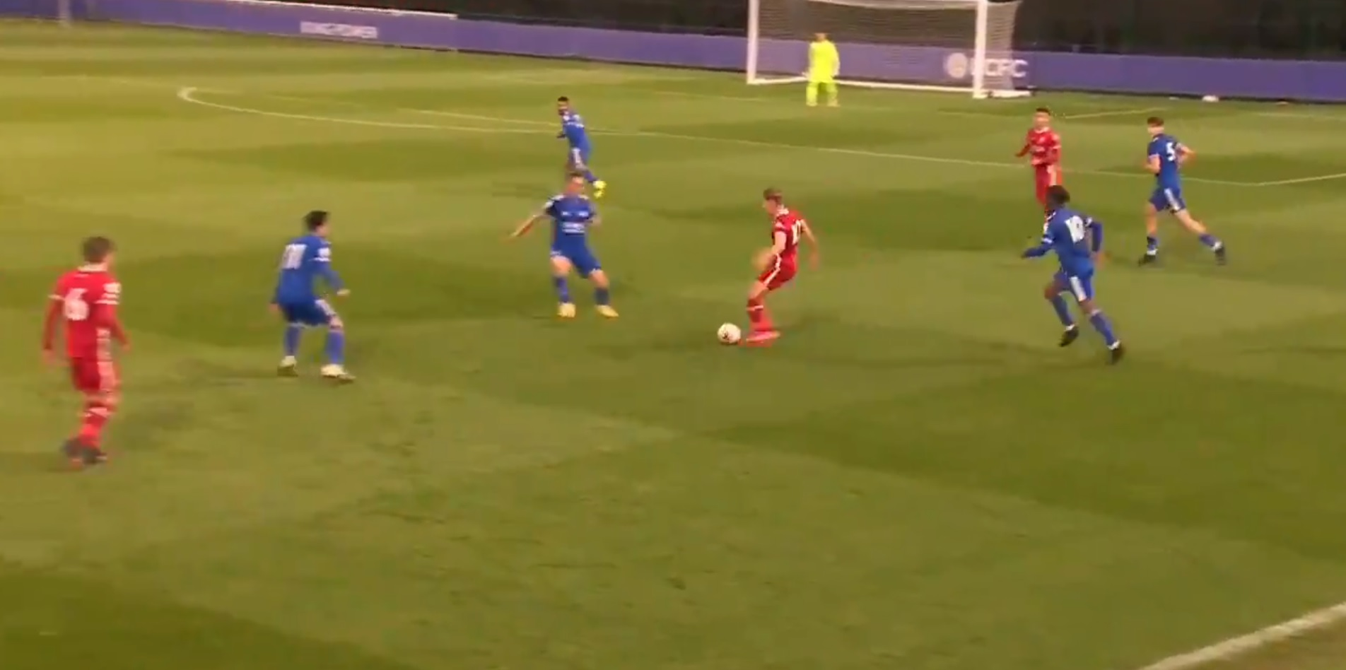 (Video) Liverpool starlet shows off silky feet in beating three players before setting up highly-rated youngster Gordon's goal