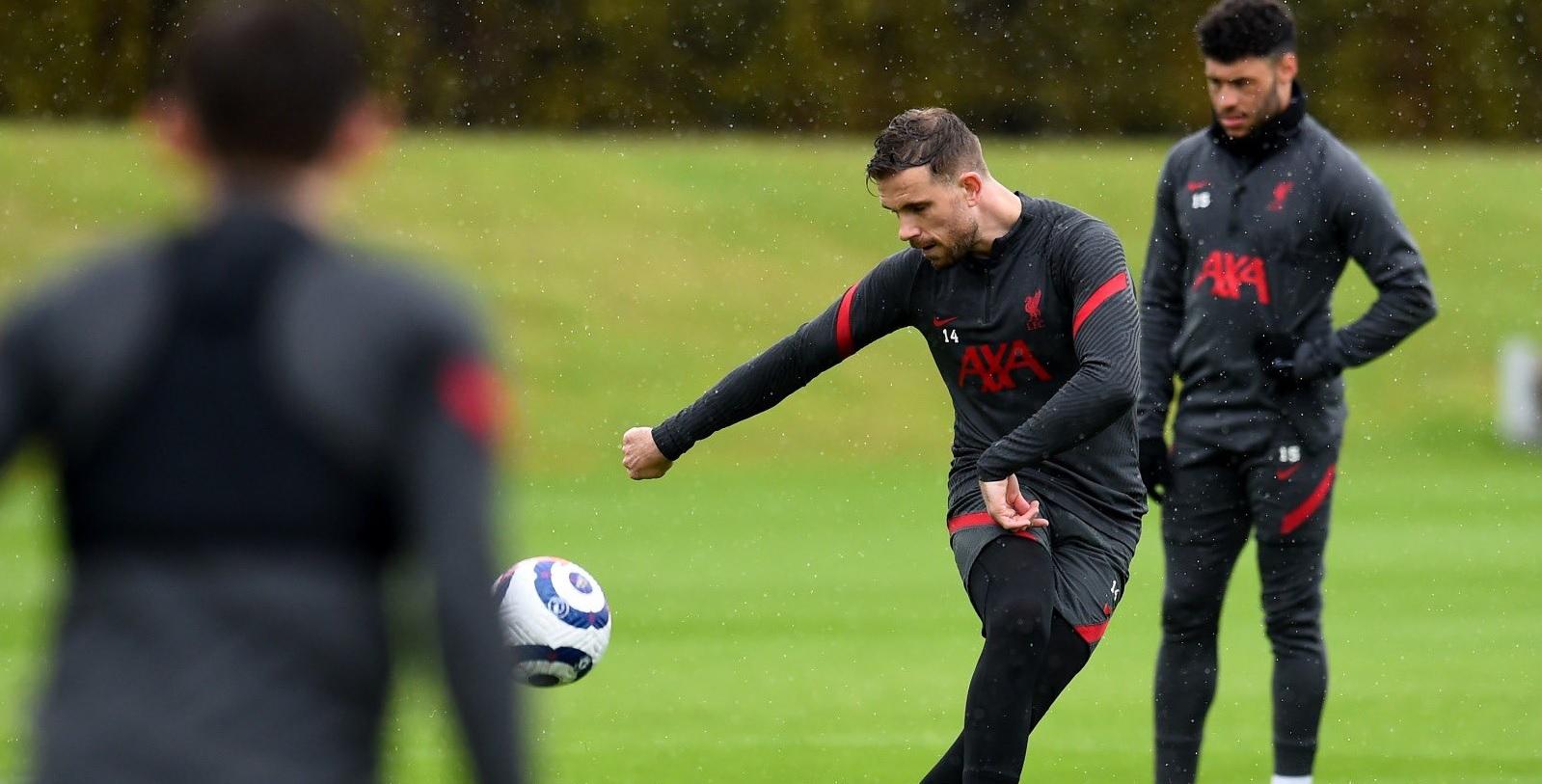 (Photos) Liverpool star Jordan Henderson makes long-awaited return to team training