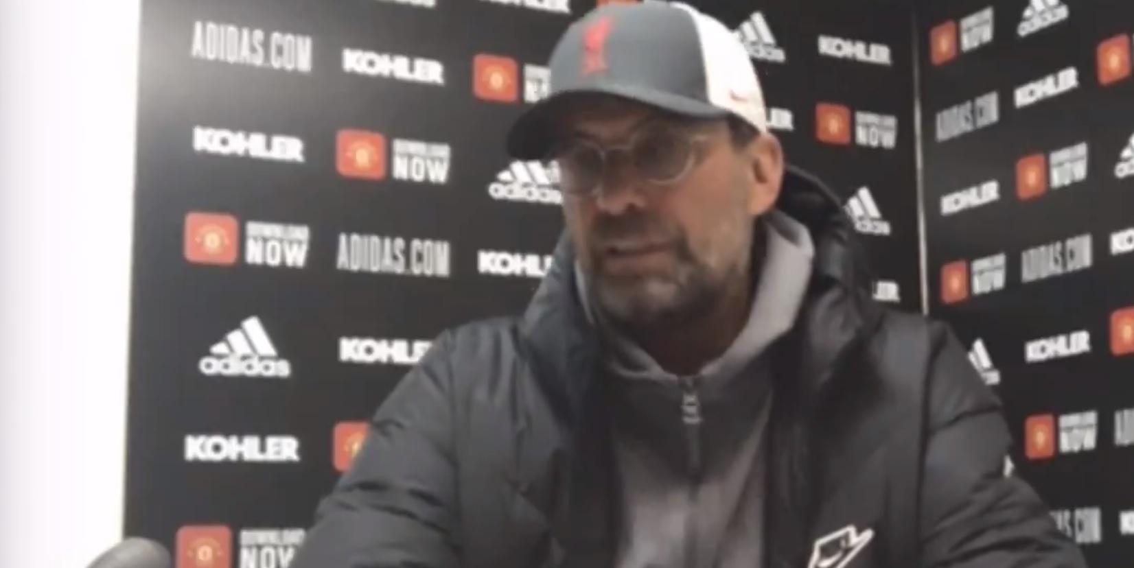 (Video) Jurgen Klopp explains Diogo Jota selection after Sadio Mane frustration post-United