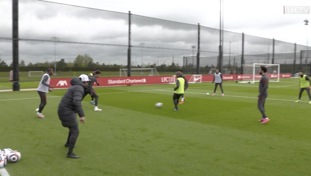 (Video) The Thiago Drill – Liverpool practice using Spaniard as central lynchpin