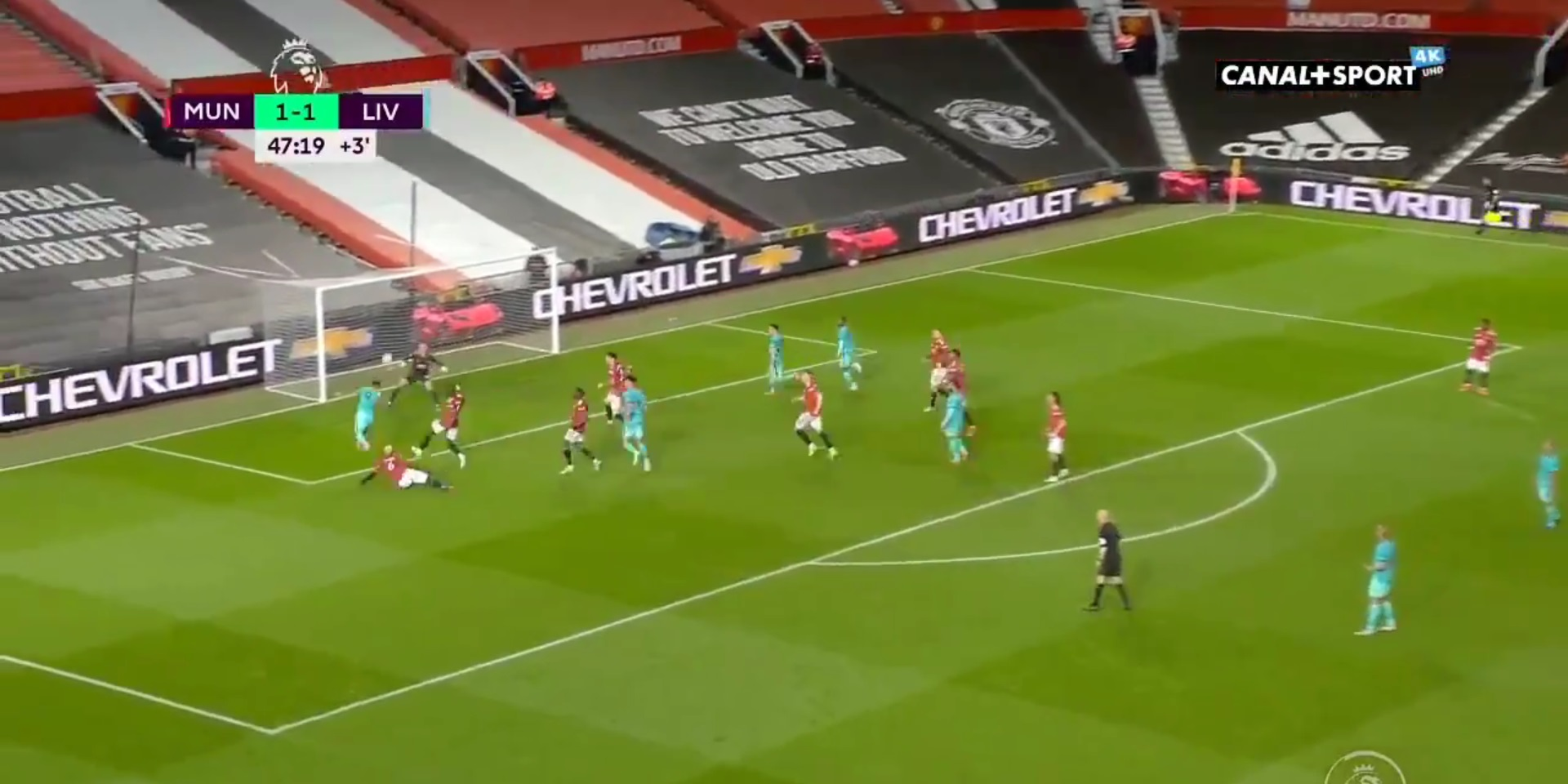 (Video) Liverpool take 2-1 lead at Old Trafford through Bobby Firmino bullet