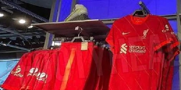(Photos) Liverpool's new kit for 21/22 spotted on sale in Nike store, including shorts