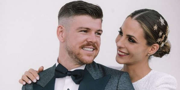 (Photo) Former Liverpool player Alberto Moreno marries wife two days after Europa League glory