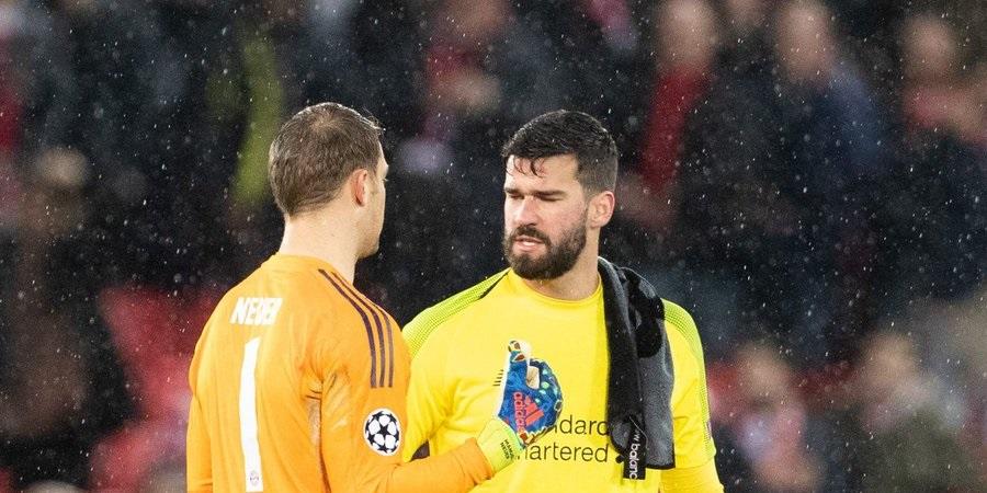 (Image) Neuer hits social media to laud LFC star Alisson for wondergoal