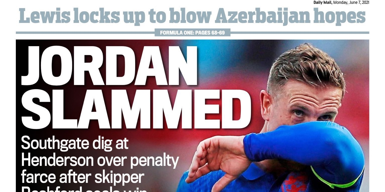 English media criticised for overreacting to Henderson's penalty miss